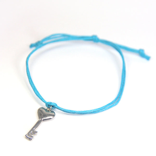 Best friend you hold the key to my heart-key wish bracelet