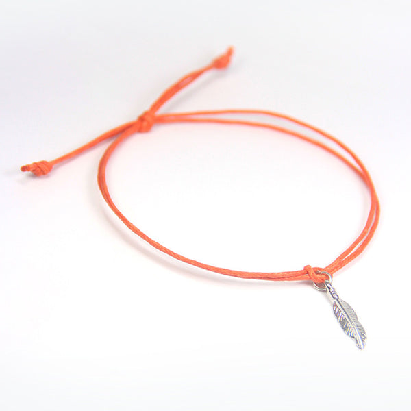 Creativity tickle your imagination- feather wish bracelet