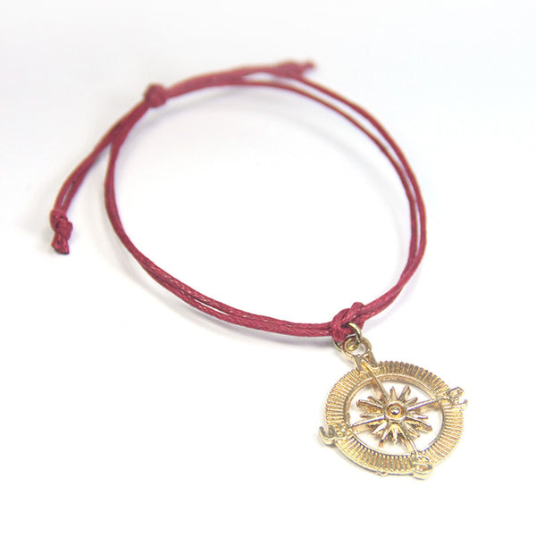Exploration choose your own path- compass wish bracelet