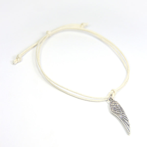 Faith miracles happen- angel wing wish bracelet