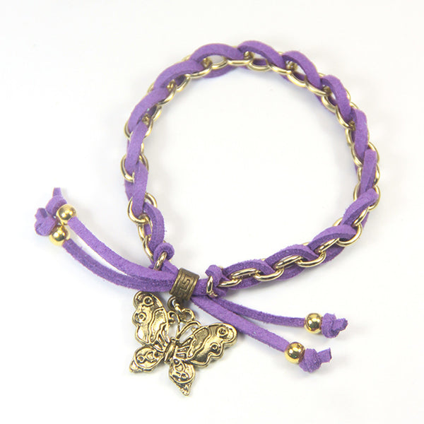 Hope the wind beneath your wings- butterfly charm bracelet
