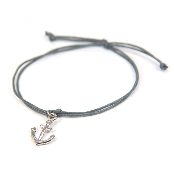 Stability stay grounded- tiny anchor wish bracelet