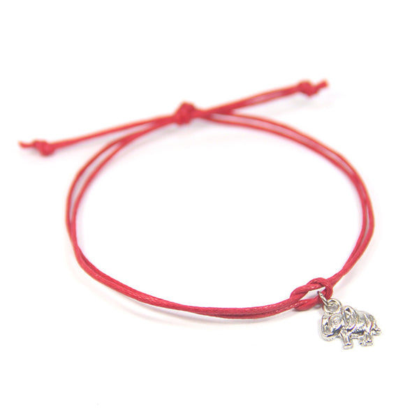 Strength overcome any obstacle- elephant wish bracelet