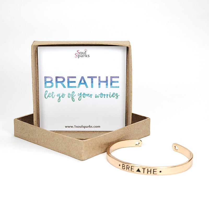 Breathe gold cuff bracelet