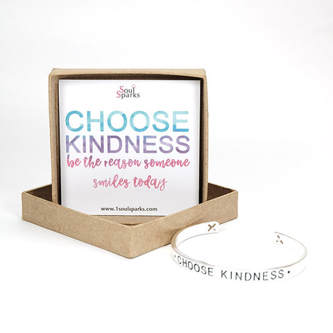Choose Kindness silver cuff bracelet