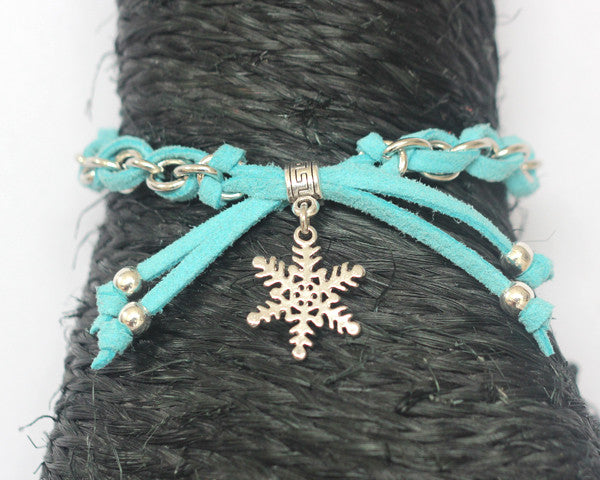 Freedom let it go- snowflake charm bracelet