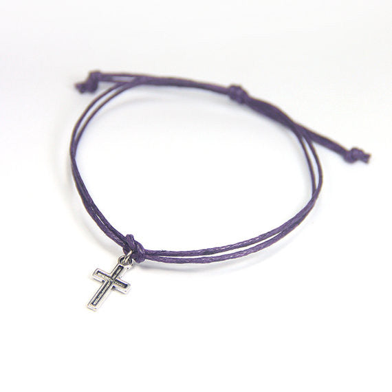 Faith miracles happen- tiny cross wish bracelet