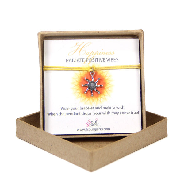 Happiness radiate positive vibes- sun wish bracelet