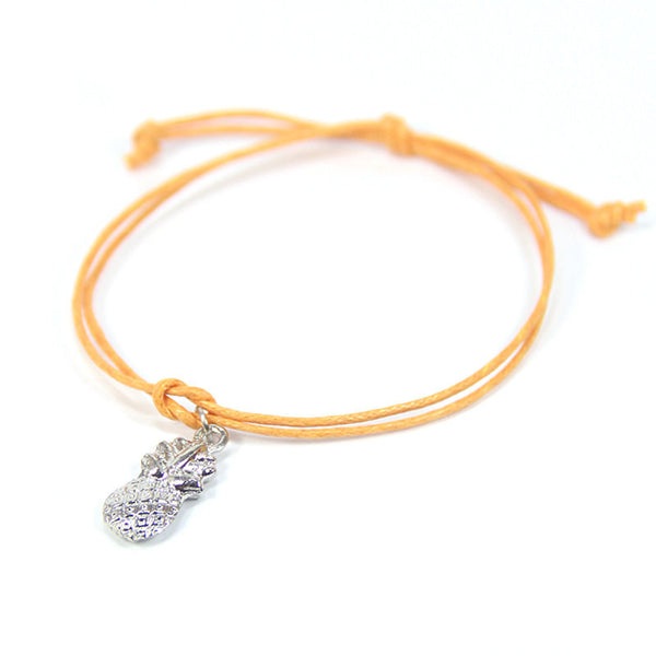 Abundance may your life be sweet and happy- pineapple wish bracelet