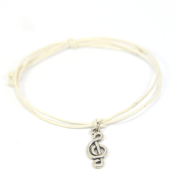 Harmony find the melody to your soul- G-Clef Wish Bracelet