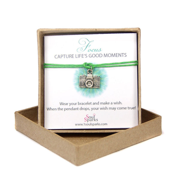 Capture life's good moments- camera wish bracelet