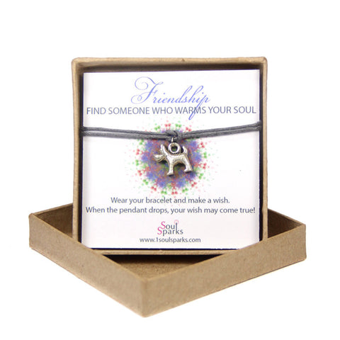 Friendship find someone who warms your soul-dog wish bracelet