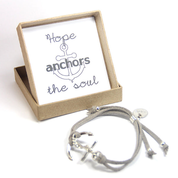 Hope anchors the soul- hope anchor bracelet