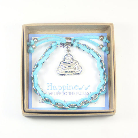 Happiness live life to the fullest- buddha charm bracelet