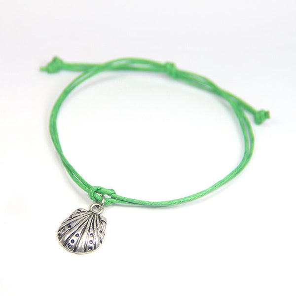Happiness life is a beach- shell wish bracelet