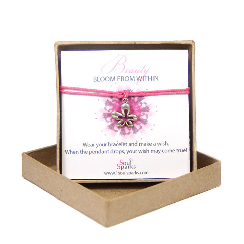 Beauty bloom from within- flower wish bracelet