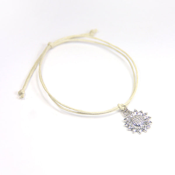 Beauty bloom from within- sunflower wish bracelet