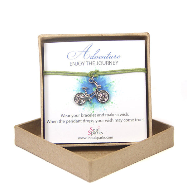 Adventure enjoy the journey-bike wish bracelet