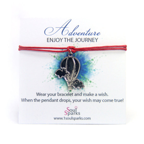 Adventure enjoy the journey-hot air balloon wish bracelet