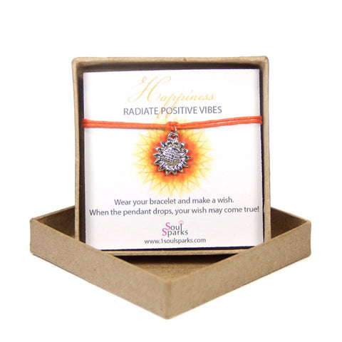 Happiness- radiate positive vibes- sunflower wish bracelet