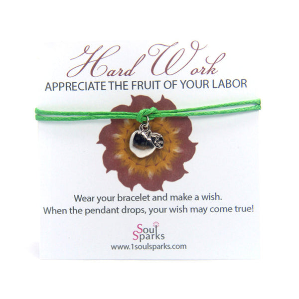 Hard work appreciate the fruit of your labor- apple wish bracelet