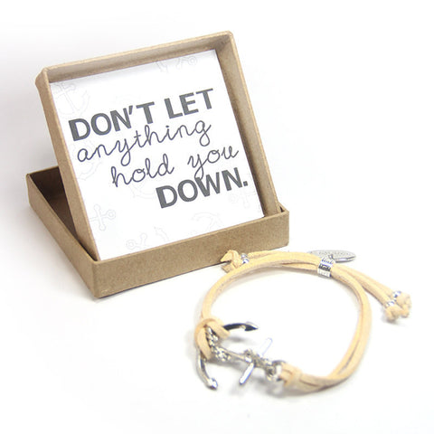 Don't let anything hold you down- prosper anchor bracelet