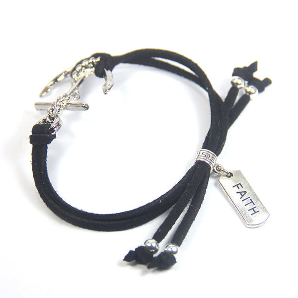 Faith gives you an anchor to drop during a storm- Faith Anchor Bracelet