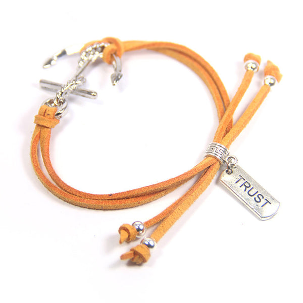 When you go through deep waters I will be with you- trust anchor bracelet