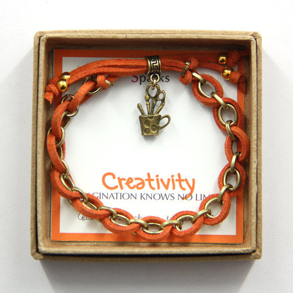 Creativity imagination knows no limits- art charm bracelet