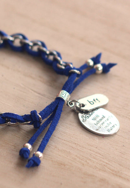 Best friends partners in crime- Well-behaved women rarely make history, BFF, handcuffs, partners in crime charm bracelet
