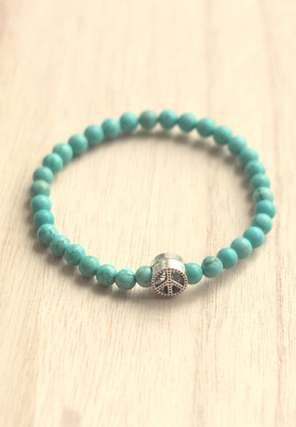 Turquoise peace bracelet for men