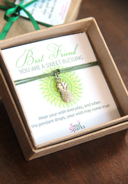 Best friend you are a sweet blessing- pineapple wish bracelet