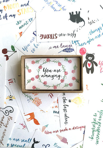 Assorted compliment cards- Set of 48