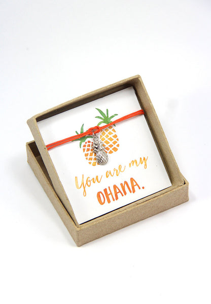 You are my ohana - Pineapple Bracelet