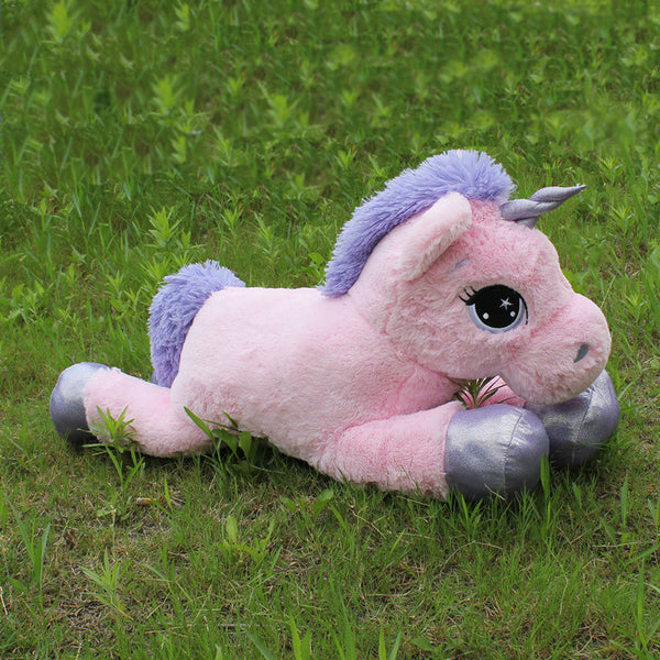 8247baa8f0c Features  Stuffed   Plush Filling  PP Cotton Animals  unicorn. Color White   Pink