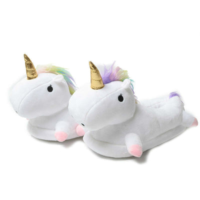 Pink/Purple Unicorn Plush Slippers