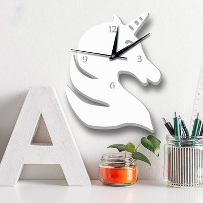 White Unicorn Nordic Wall Clock