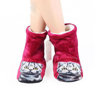 3D Cat Print Warm Home Boots - Well Pick Review