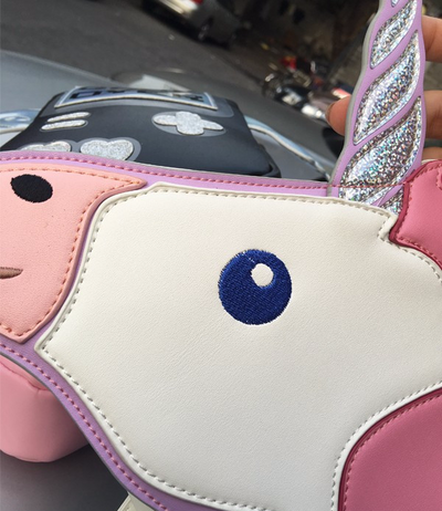 Pink/Light Blue Unicorn Mini Chain Bag