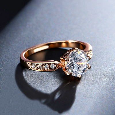 Zircon Rose Gold Wedding Rings