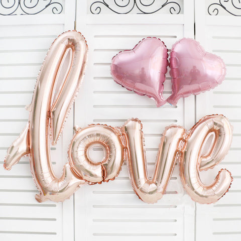 1 Set Love Letters Heart Foil Balloons