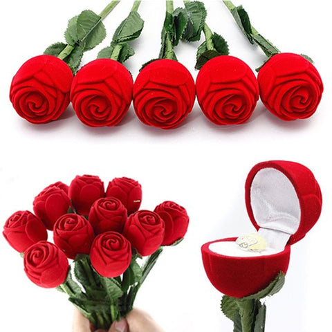 1pc/5pcs Rose Engagement Jewelry Box