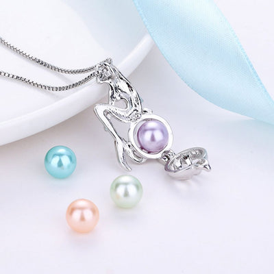 Free - Mermaid Pearl Cage Necklace