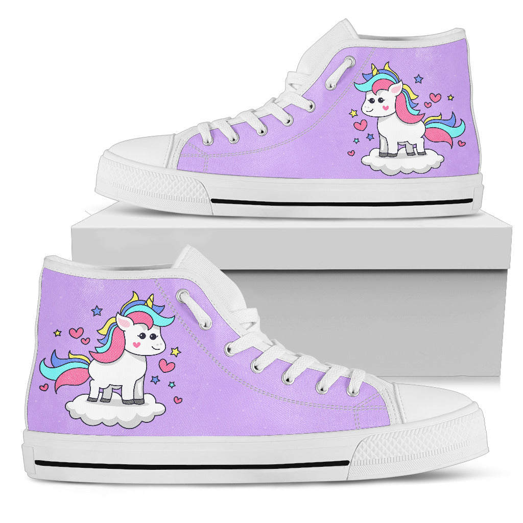 Sparkling Unicorn High-Top Shoes - Well