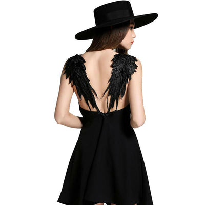 Black White Lace Angel Wings Dress - Well Pick Review