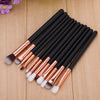 8-12cs Rose Gold Brushes Kit+ Free 2pc Sponge Puff - Well Pick Review