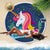 Unicorn Large Round Beach Towel