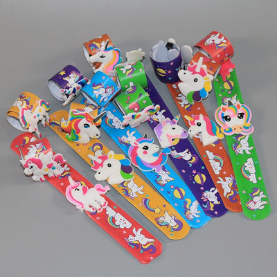 12pcs/set Cartoon Unicorn Slap Bracelet - Well Pick Review