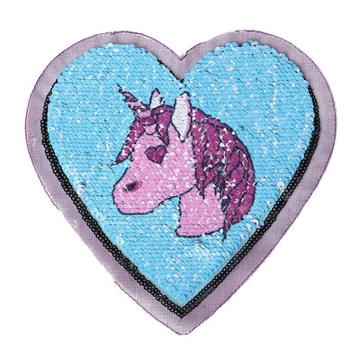 Unicorn Heart Reversible Patch Sew