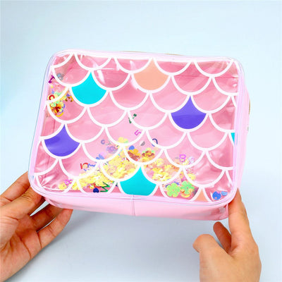 Transparent Mermaid Makeup Bag